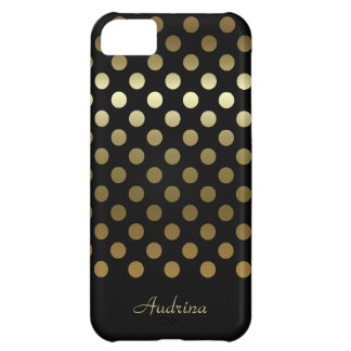 Personalized: Gold Polka-dot iPhone 5C Cover