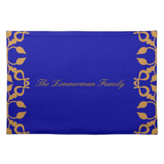 Personalized Gold Scroll Place Mats