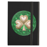 Personalized Gold Shamrock iPad Case