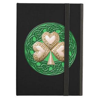 Personalized Gold Shamrock iPad Case