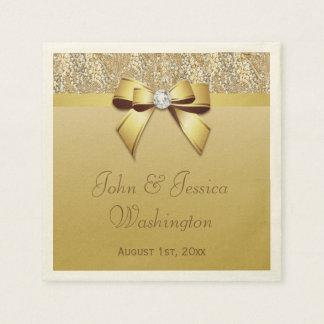 Personalized Gold Wedding Napkin