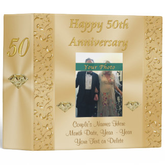 Personalized Golden Anniversary Photo Album Binder
