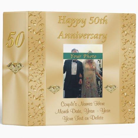 Personalized Golden Anniversary Photo Album Binder