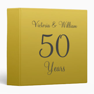 Personalized Golden Anniversary Scrapbook Binder