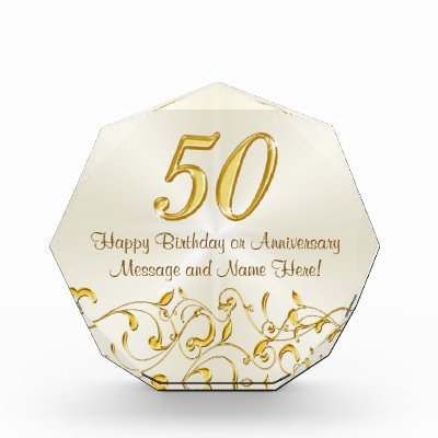 Personalized Golden Anniversary Gift For Couple