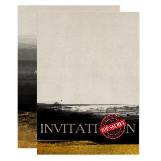 Personalized Golden Black Invitation Top Secret