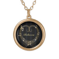 Personalized Golden musical notes love heart Jewelry