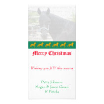 Personalized Golden Paso Fino Holiday Card