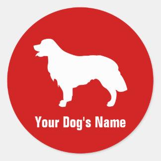 Personalized Golden Retriever ゴールデン・レトリーバー Classic Round Sticker