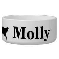 Personalized Golden Retriever Dog Bowl