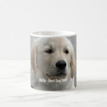Personalized Golden Retriever Dog Photo and Name Coffee Mug