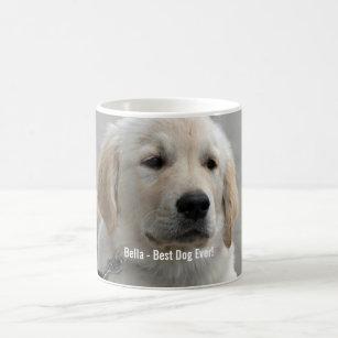 Personalized Golden Retriever Dog Photo and Name Coffee Mug