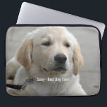 "Personalized Golden Retriever Dog Photo and Name Computer Sleeve<br><div class=""desc"">Personalize your phone and computer cases with this Golden Retriever Dog photo or replace with your dog&#39;s or puppy&#39;s photo and name (or other pet or person&#39;s photo/name). Text reads &quot;Best Dog Ever&quot; or add your own text - &quot;We love Daisy&quot; (your dog&#39;s name), or dog&#39;s birthday. Just click on...</div>"