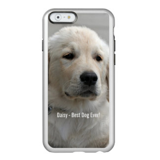 Personalized Golden Retriever Dog Photo and Name Incipio Feather Shine iPhone 6 Case