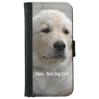 Personalized Golden Retriever Dog Photo and Name iPhone 6/6s Wallet Case