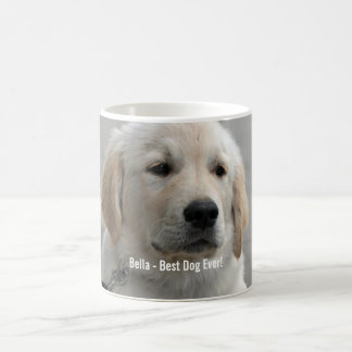 Personalized Golden Retriever Dog Photo and Name Classic White Coffee Mug