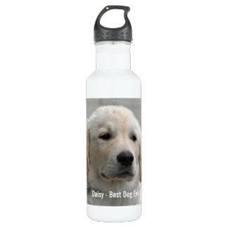 Personalized Golden Retriever Dog Photo and Name 24oz Water Bottle
