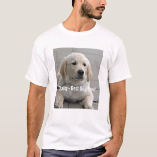 Personalized Golden Retriever Dog Photo and Name T-Shirt