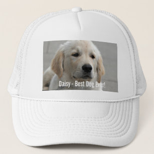 Personalized Golden Retriever Dog Photo and Name Trucker Hat c8b1a78e6923