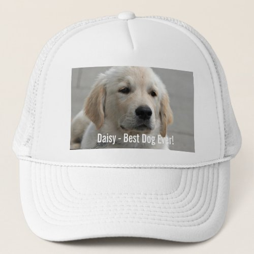 Personalized Golden Retriever Dog Photo and Name Trucker Hat