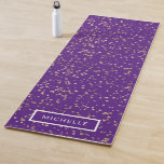 Personalized Golden Stars Yoga Mat