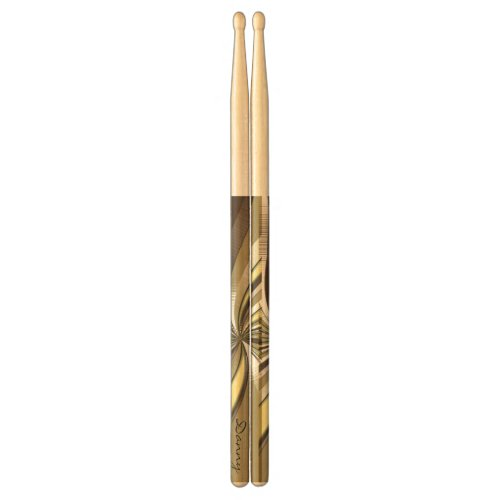 Personalized Golden Swirl Drumsticks