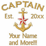 Personalized Golden YEAR Names Captain Star Anchor Embroidered Jacket