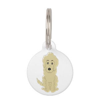Personalized Goldendoodle Dog Design Pet ID Tag