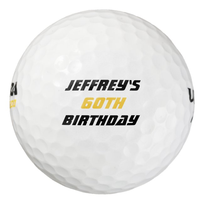 Personalized Golf Ball, 60th Birthday