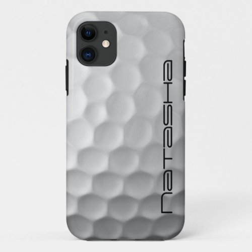 Personalized Golf Ball Dimples Texture Pattern Phone Case