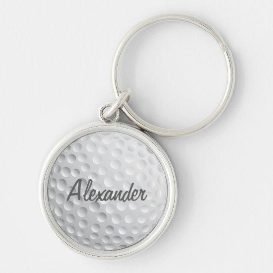 Personalized Golf Ball Keychain