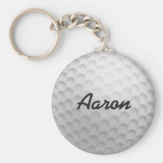 Personalized Golf Ball Keyring Keychain Gift