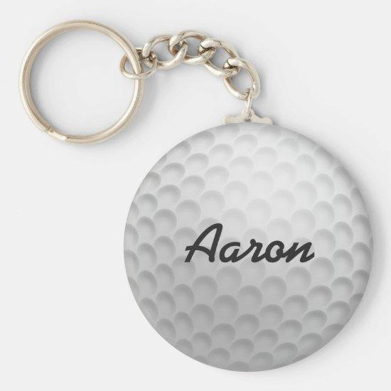 Personalized Golf Ball Keyring Keychain Gift