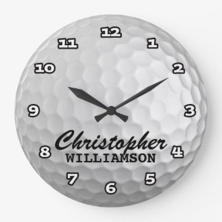 Personalized Golf Ball Wall Clock