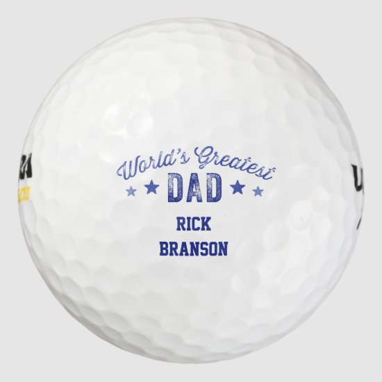 Personalized Golf Ball World's Greatest Dad