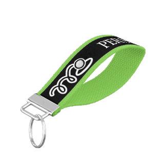 Personalized golf ball wrist keychains for golfers wrist keychain