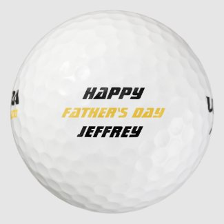 Personalized Golf Balls, Father's Day