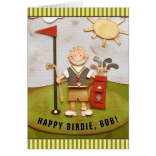Funny golf birthday cards greeting photo cards zazzle personalized golf birthday greeting card m4hsunfo Image collections