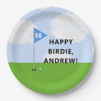 Personalized Golf Birthday Paper Plate