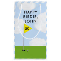 personalized golf birthday small gift bag