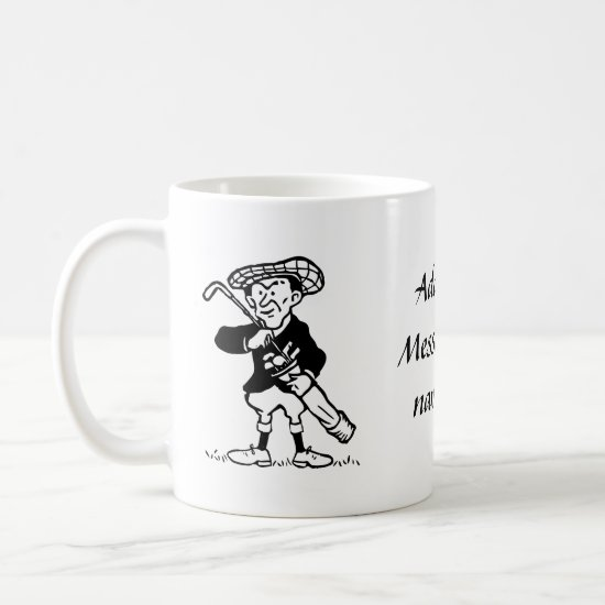 Personalized golf cartoon golfer coffee mug