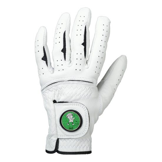 Personalized golf cartoon golfer golf glove