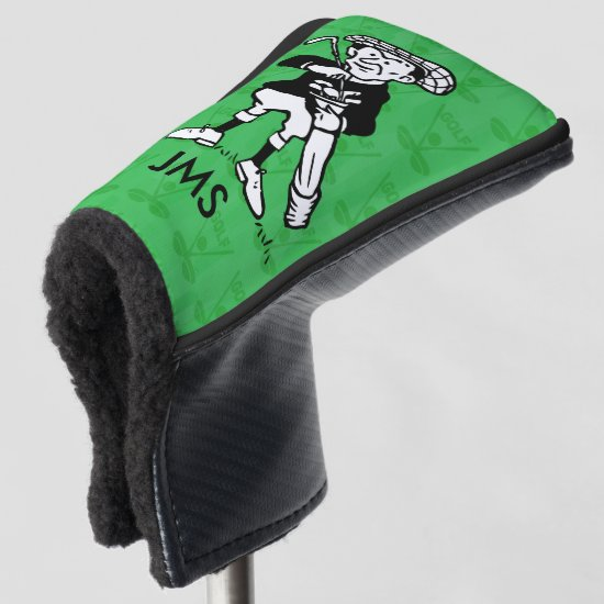 Personalized golf cartoon golfer golf head cover