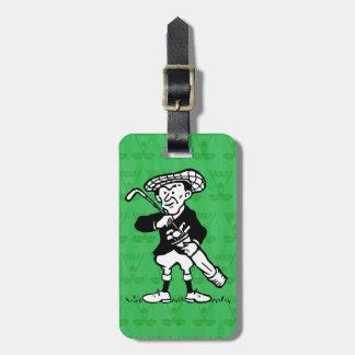Personalized golf cartoon golfer luggage tags