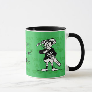 Personalized golf cartoon golfer mug
