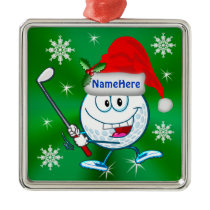 Personalized Golf Christmas Tree Ornaments