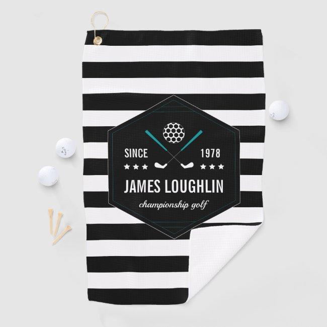 Personalized Golf Club Logo Golf Towel