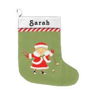 personalized golf large christmas stocking