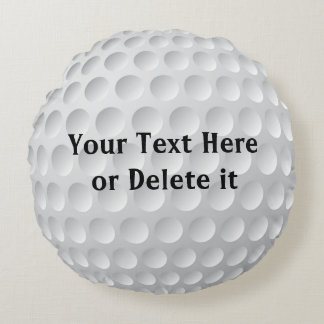 Personalized Golf Pillows YOUR TEXT or Delete Text Round Pillow