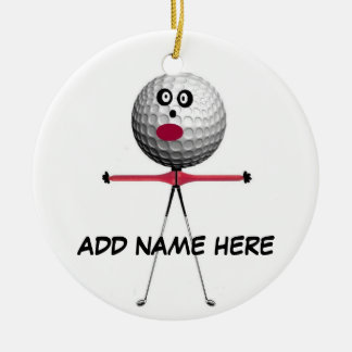 Personalized Golf Star Ceramic Ornament